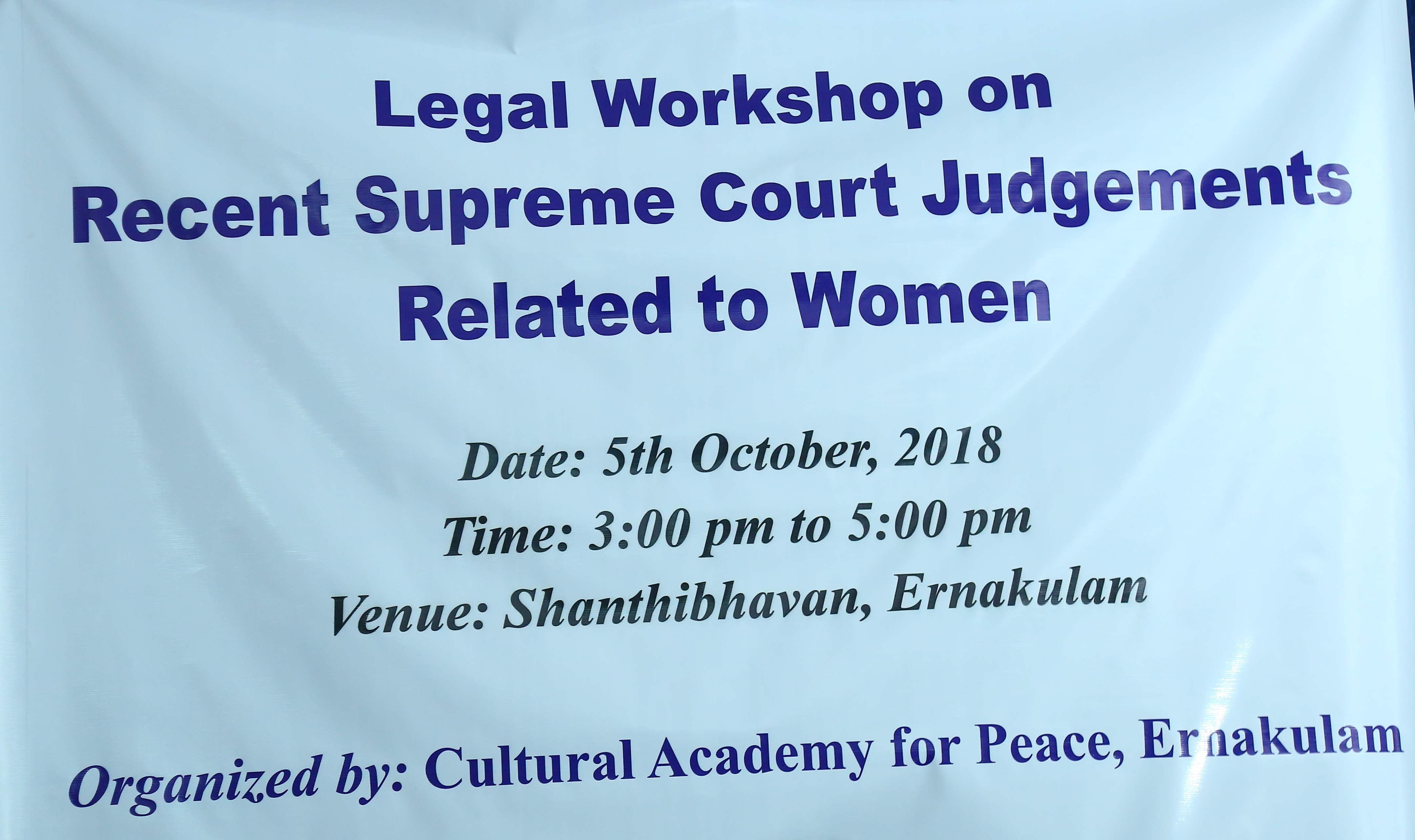 Legal Workshop (5th October, 2018)